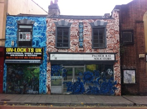Palmer Ray Solicitor's graffiti frontage.